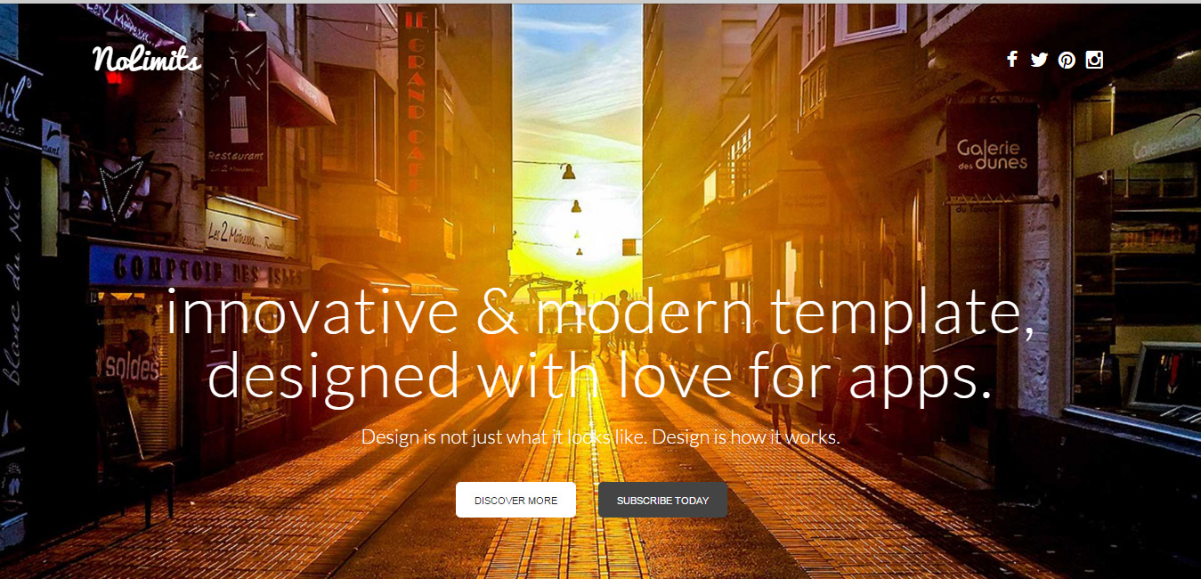 NoLimits One Page Responsive WordPress Theme