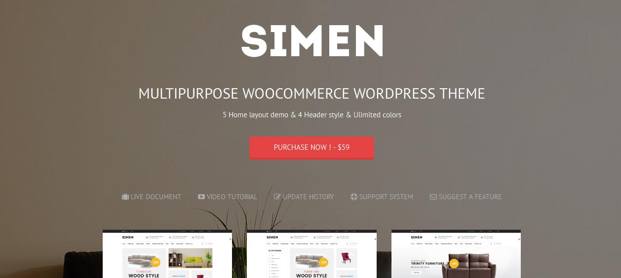 Simen - Best Furniture WordPress Themes