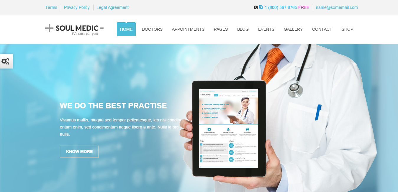 SoulMedic - Flat Responsive Medical & Health Theme