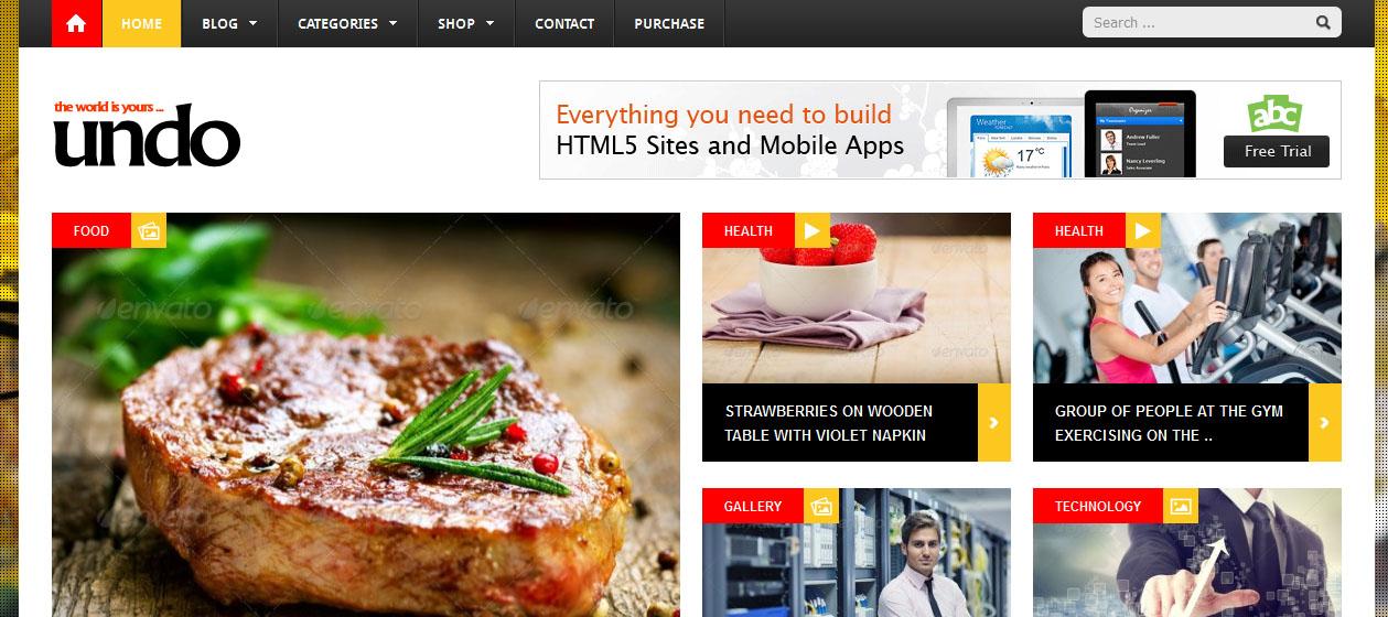 20 Best HTML5 Based WordPress Themes - DesignOrbital