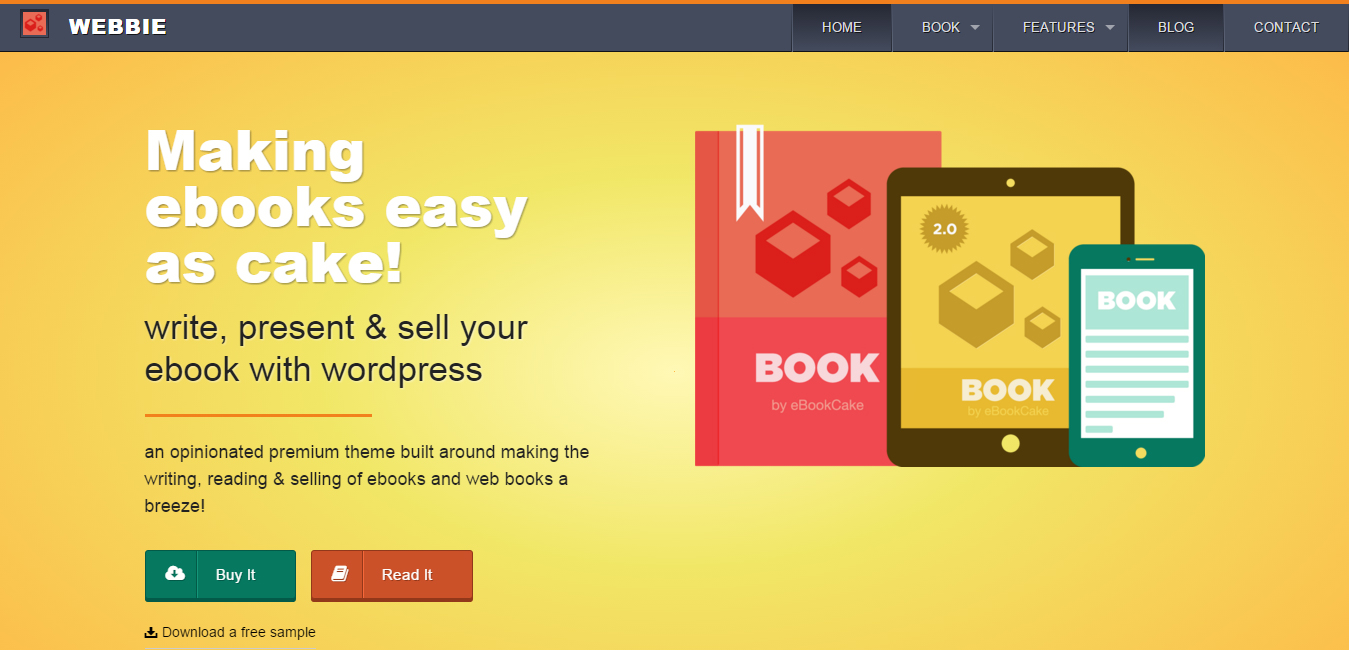 Webbie - WordPress eBook Authors Theme