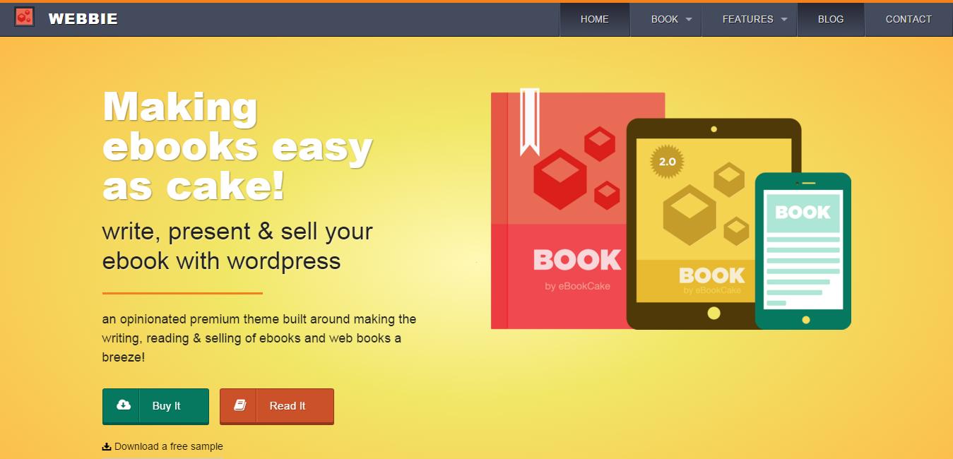 Webbie - WordPress eBook Authors Theme