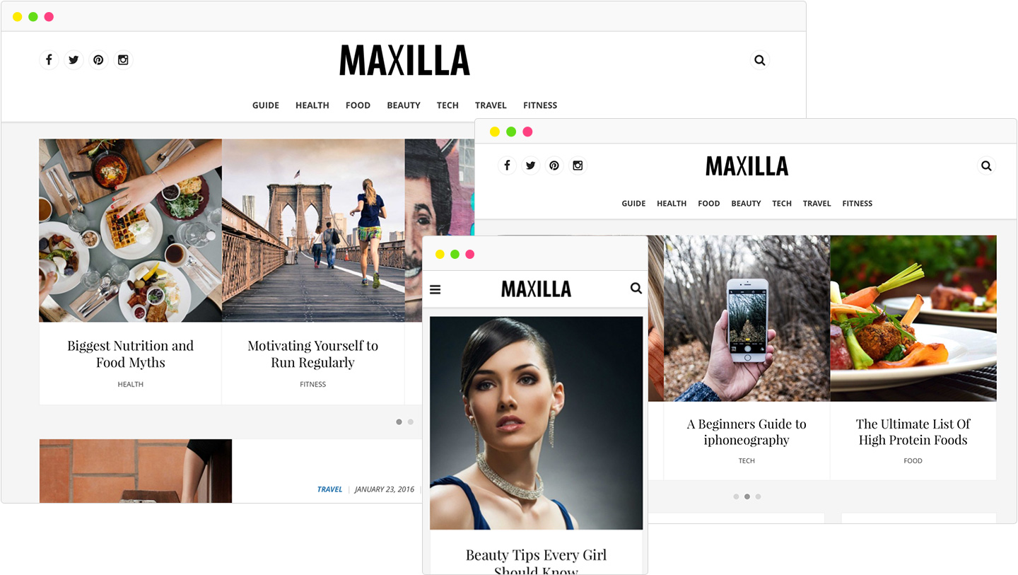 Maxilla Magazine WordPress Theme