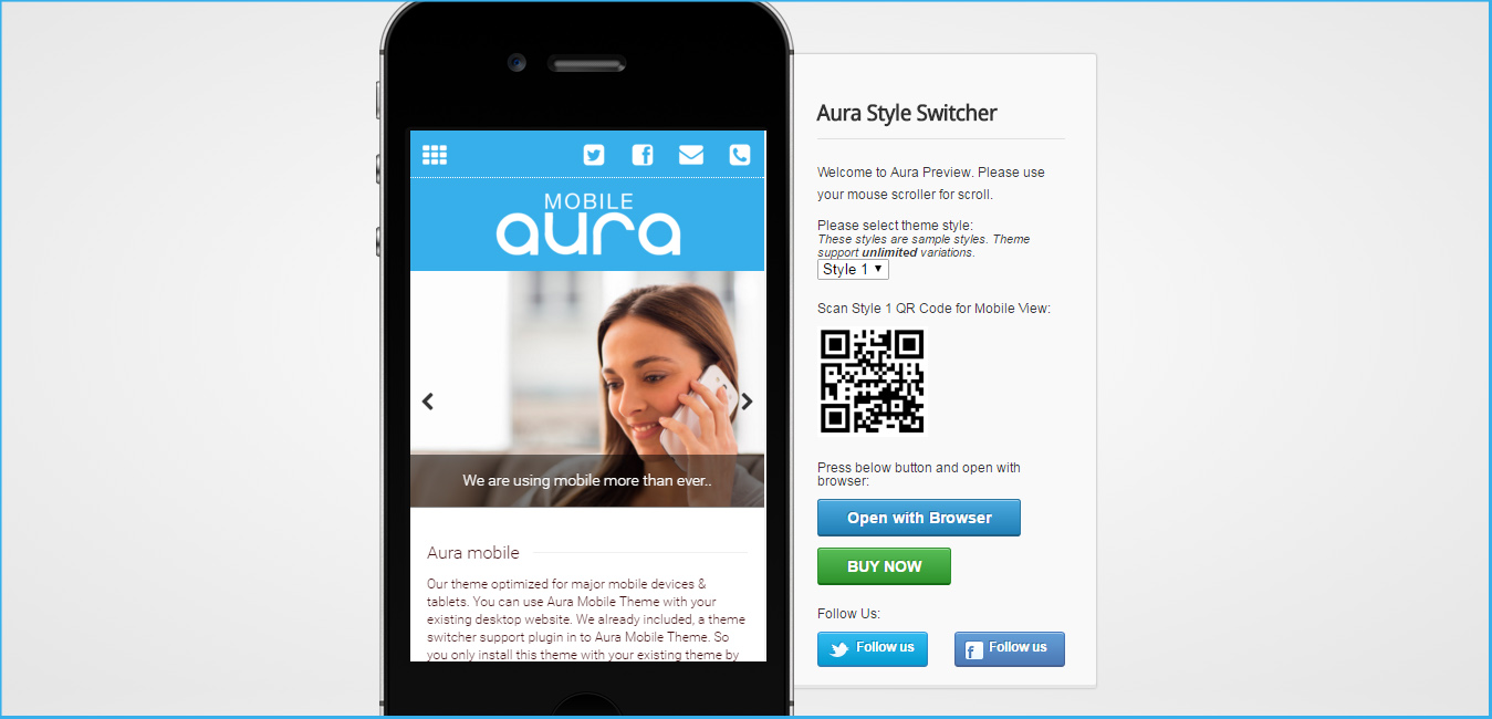 Aura Premium Mobile WordPress Theme