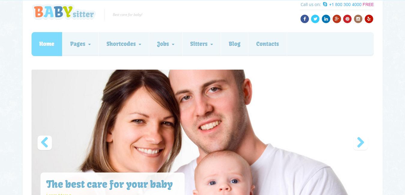 Babysitter - Responsive WordPress Theme