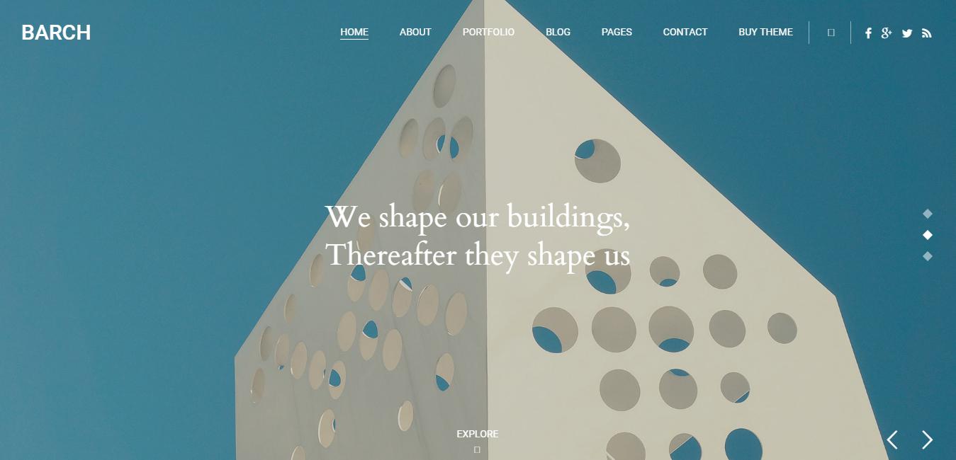 Barch - Architecture & Construction WordPress Theme