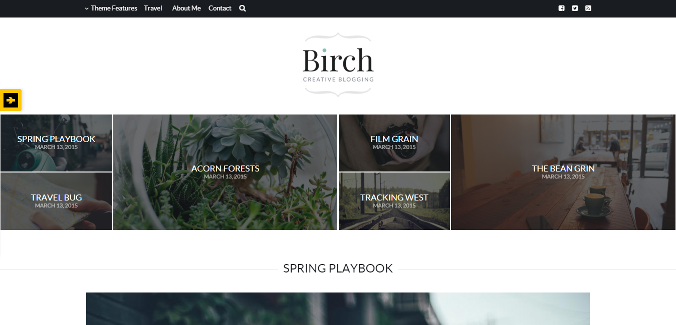 Birch - Responsive WordPress Personal Blog Theme