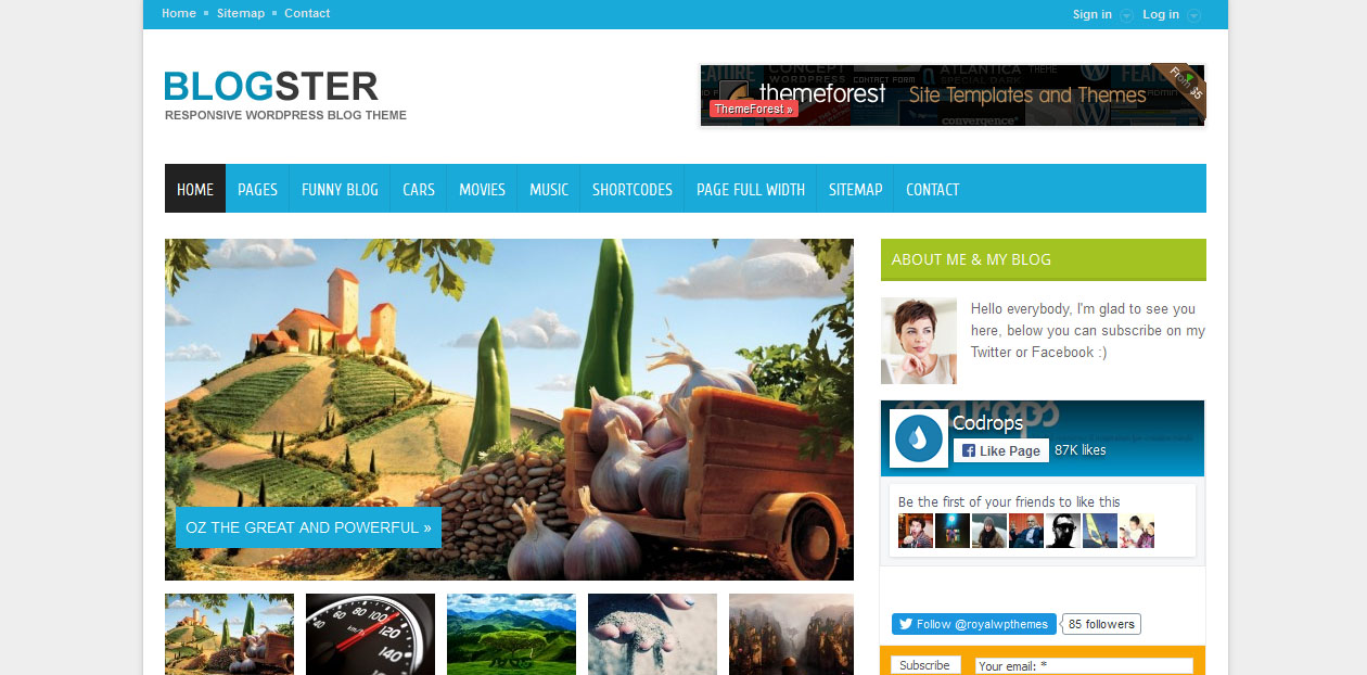 Blogster - blogging WordPress themes