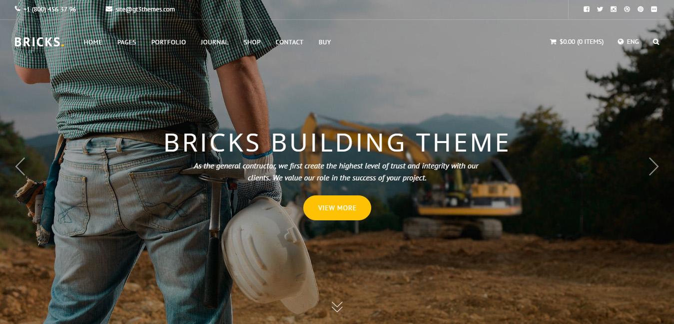 Bricks - Construction & Building WordPress Theme