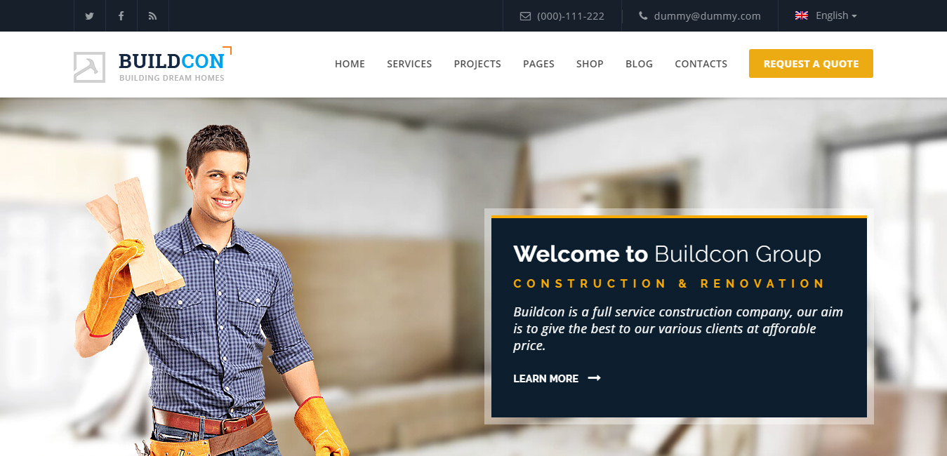 Buildcon - Builders Service WordPress Theme