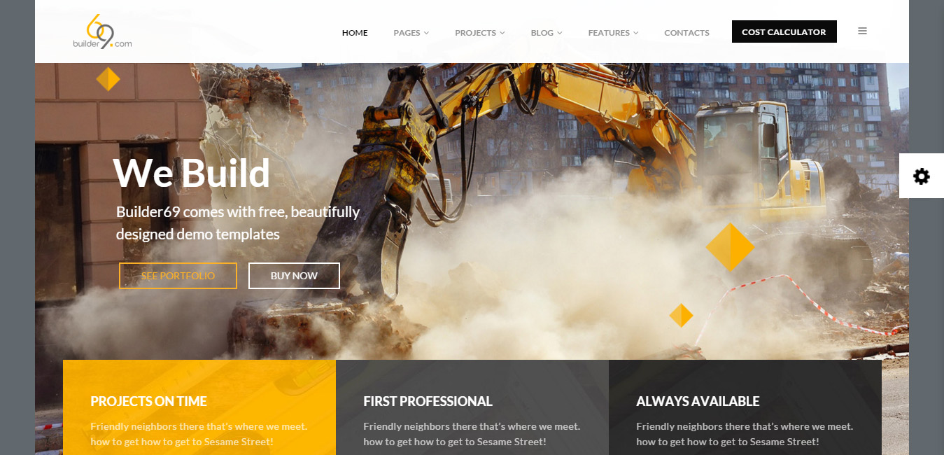 Builder69 - Construction, Building WordPress Theme