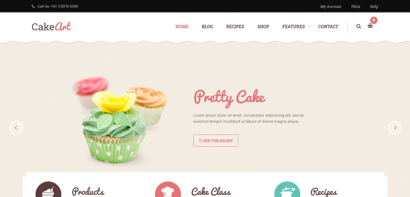 Cake Art - Cake WordPress Theme