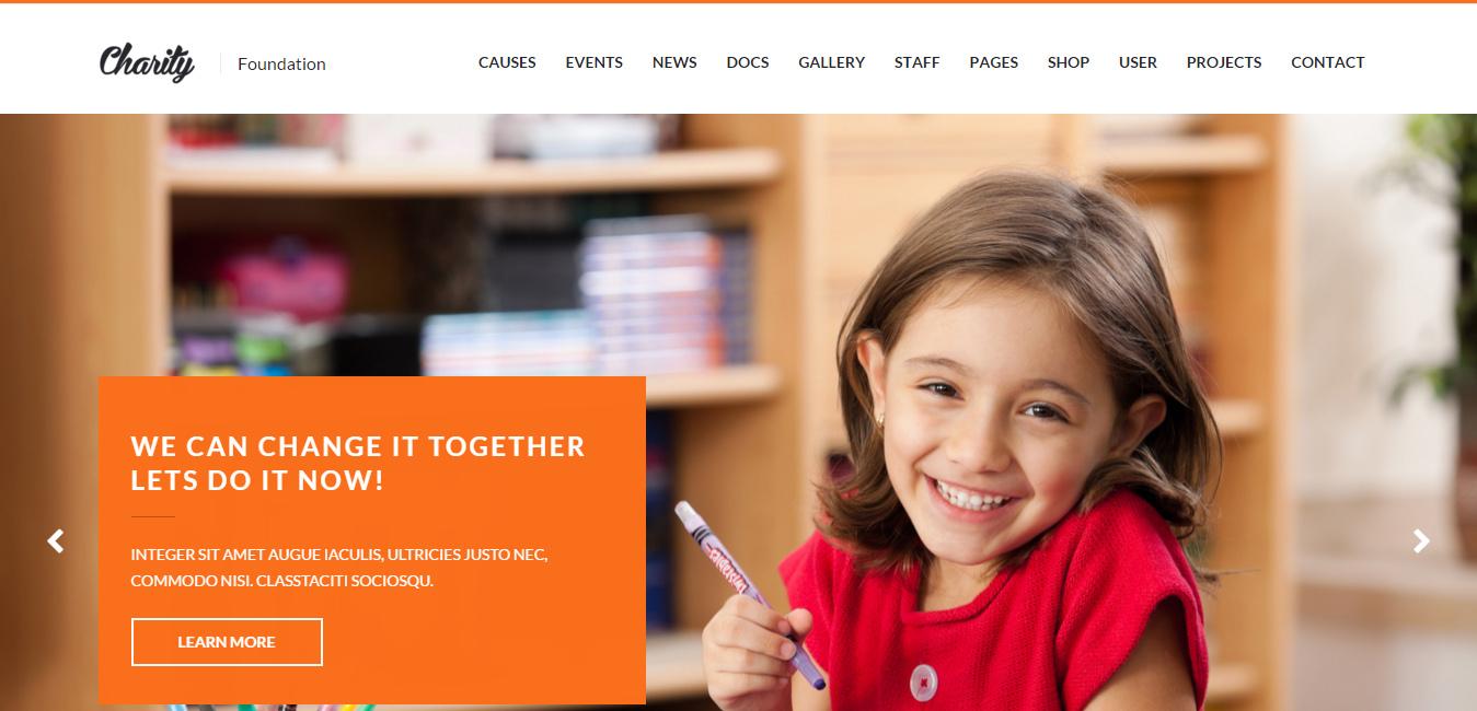 Charity - Foundation WordPress Theme