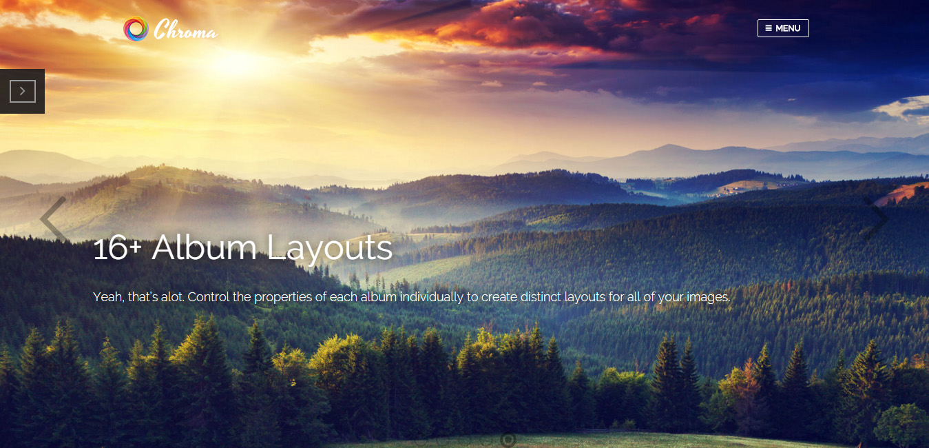Chroma - Responsive Photography Theme