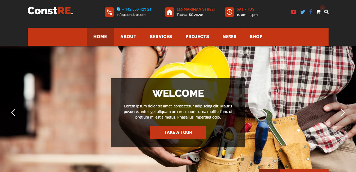 ConstRE - Construction WordPress Theme