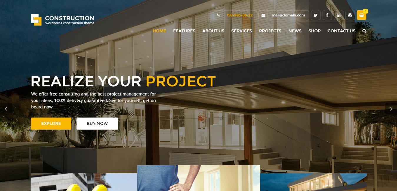 Construction - WordPress Business Theme