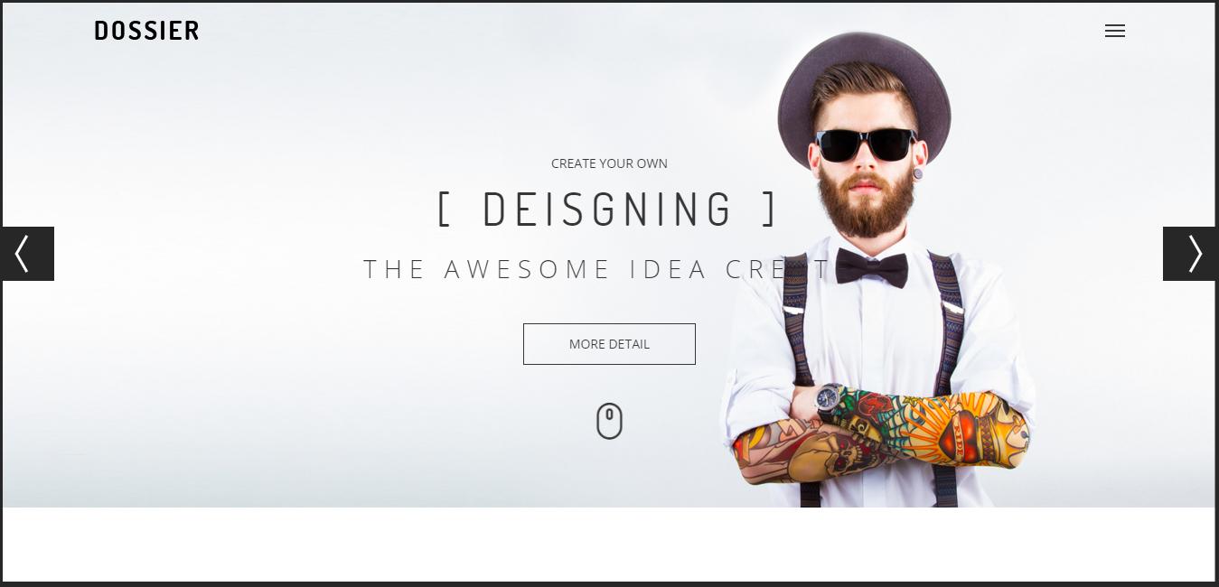 Dossier - Modern Portfolio WordPress Theme