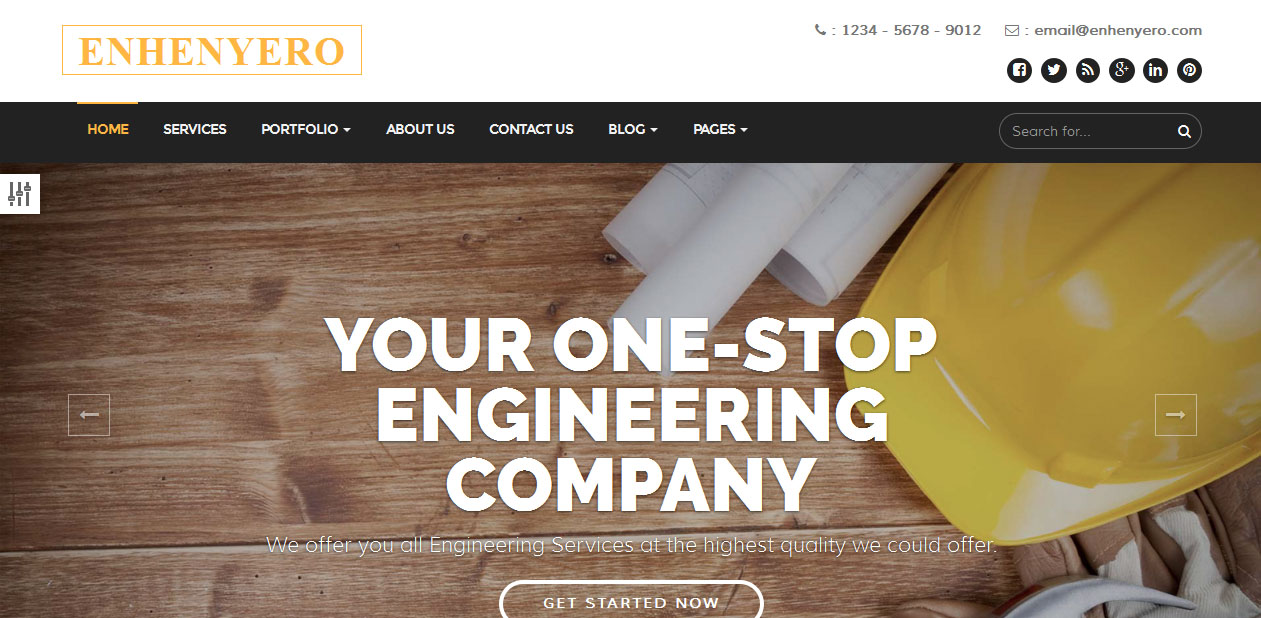 Enhenyero - Industrial WordPress Themes