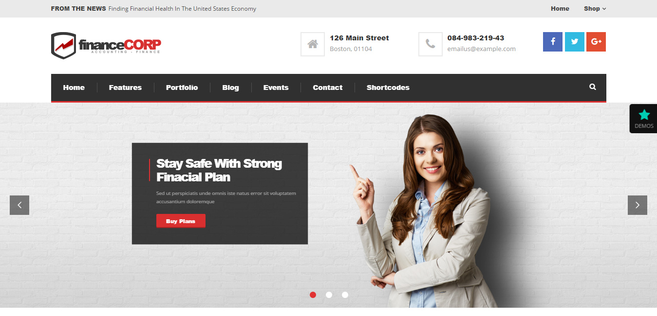 Finance Corp - Professional WordPress Theme