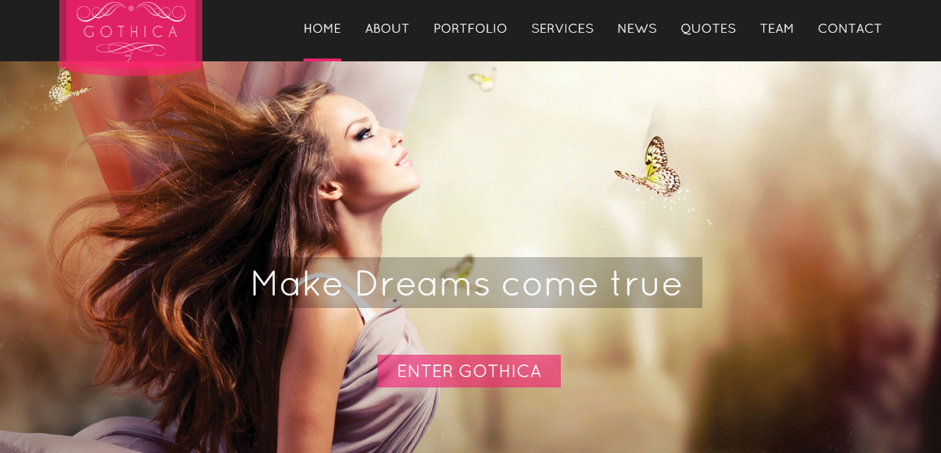 Gothica - One Page WordPress Theme