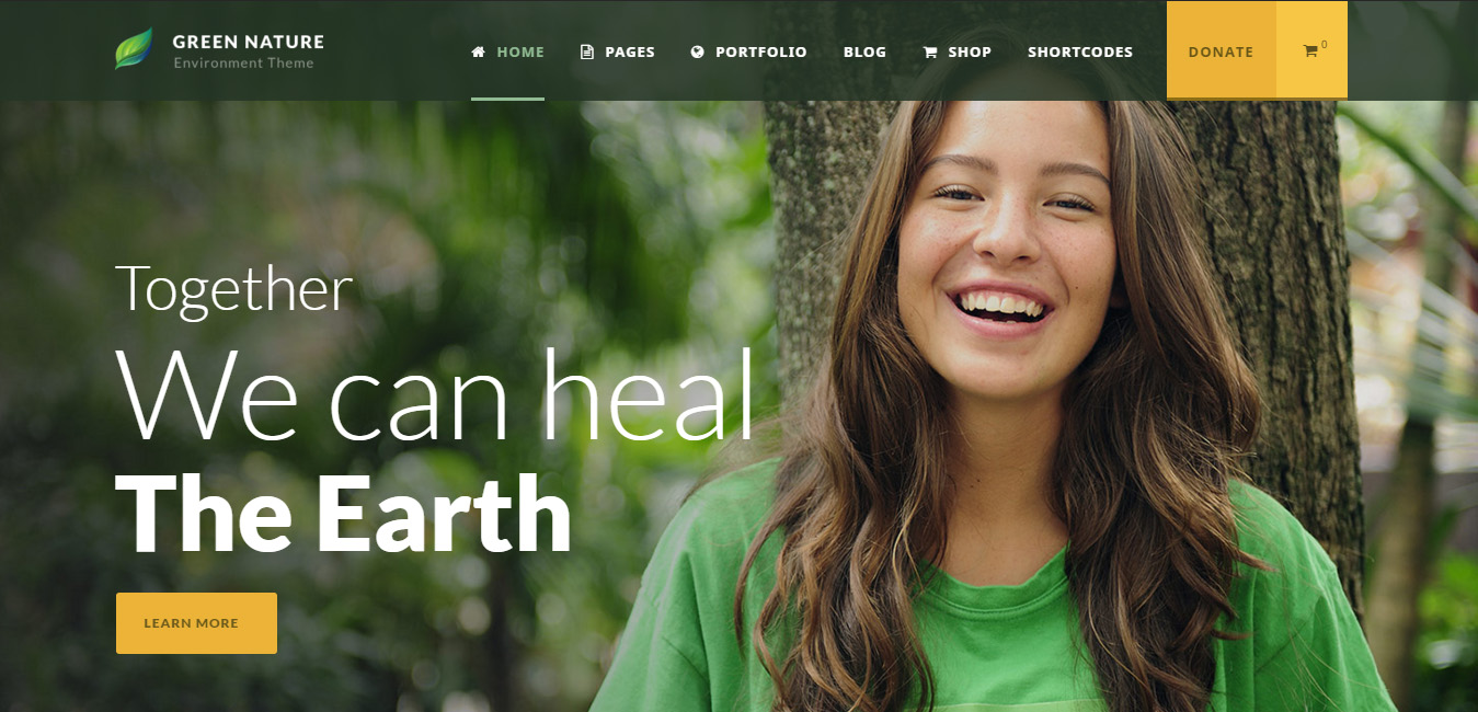 Green Nature - Environmental, Non-Profit WP Theme
