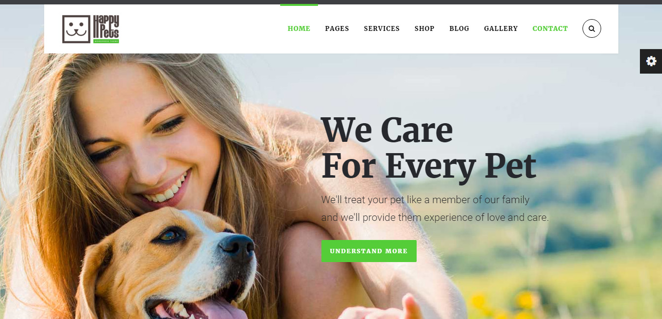 Happy Pets - Pet Shop, Services WordPress Theme