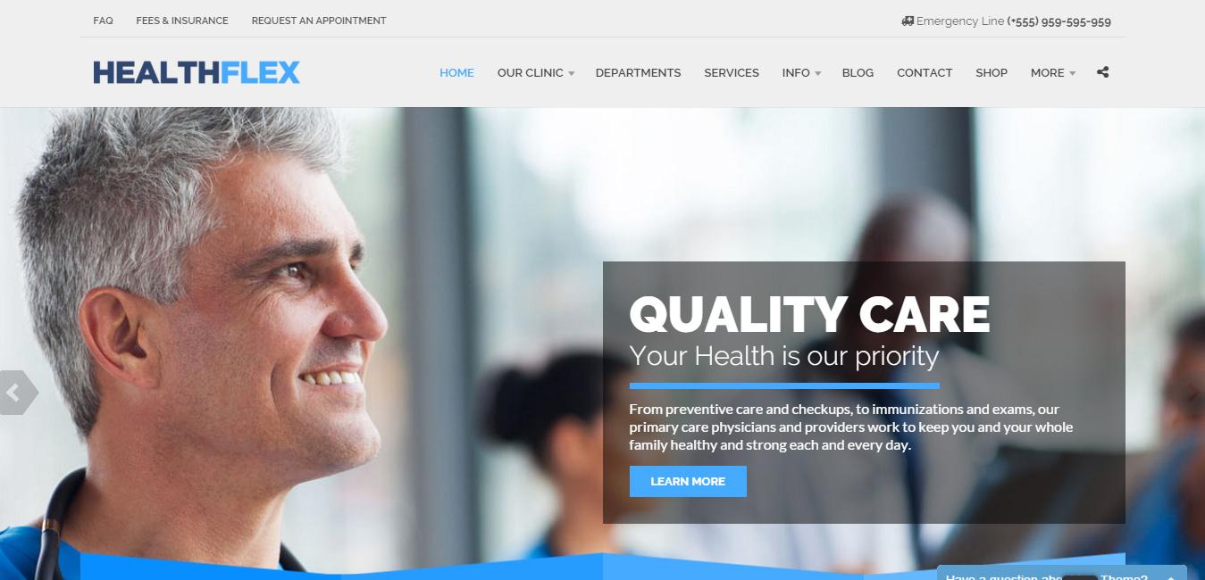 HealthFlex Medical Health WordPress Theme
