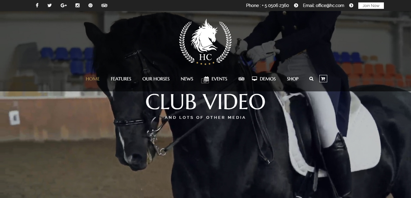 Horse Club - Equestrian WordPress Theme
