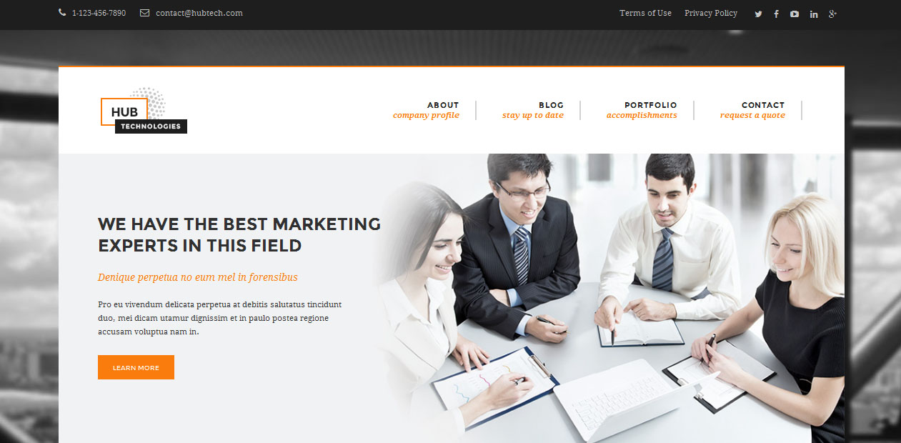 Hub Technologies - Technology WordPress Themes
