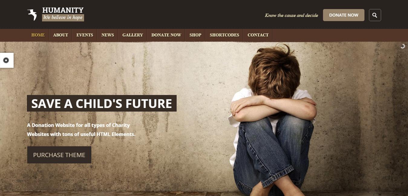 Humanity - NGO & Charity WordPress Theme