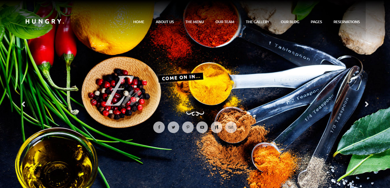 Hungry - WordPress One Page Restaurant Theme