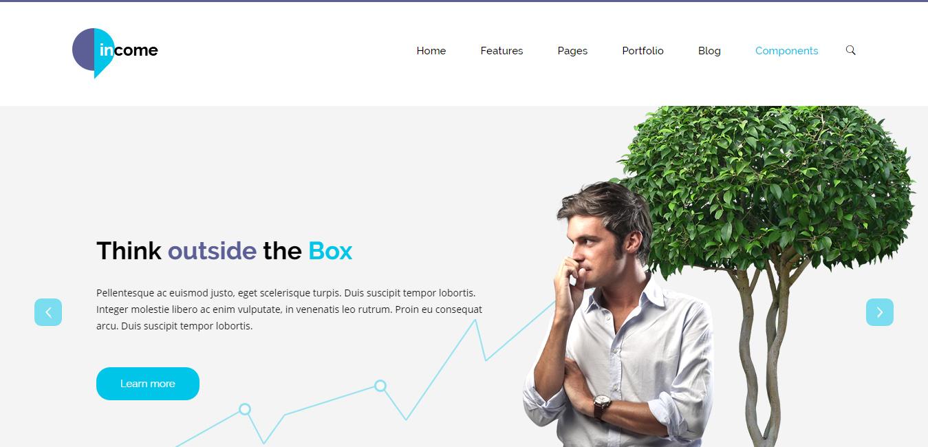 Income - Responsive Business WordPress Theme