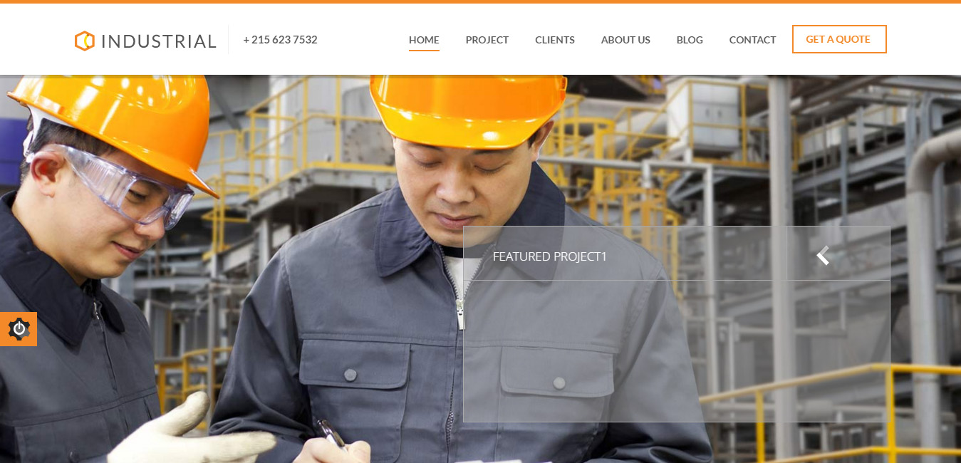 Industrial - Architects & Engineers WP Theme