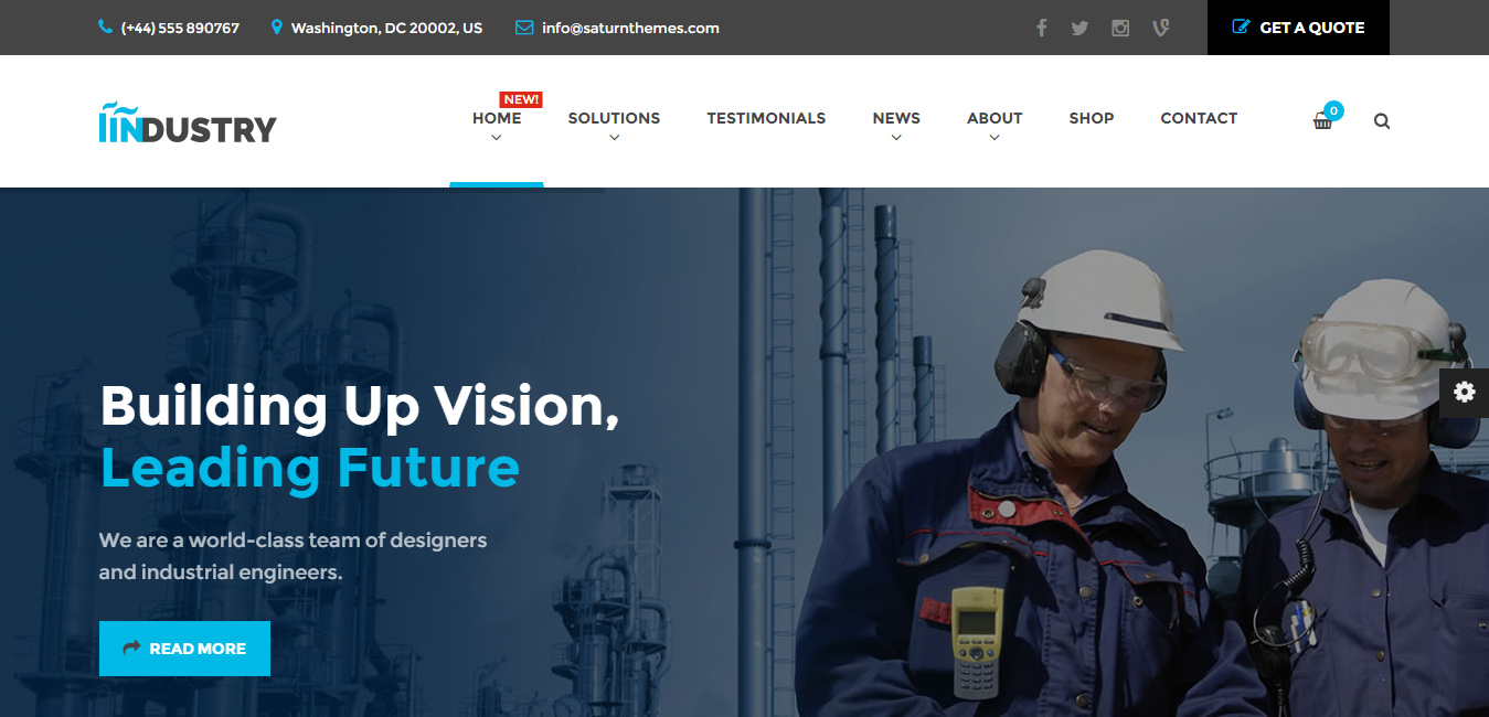 Industry - Business, Construction and Transport WordPress Theme
