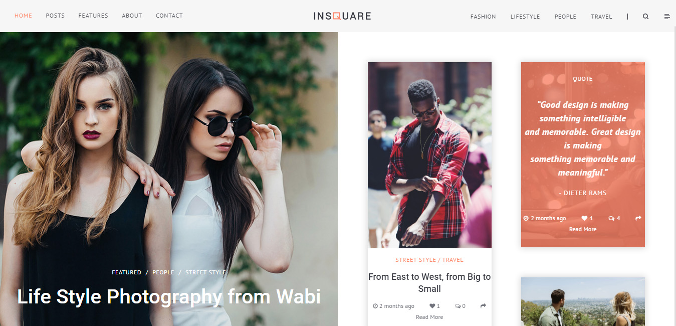 Insquare - Life Style Blog WordPress Theme