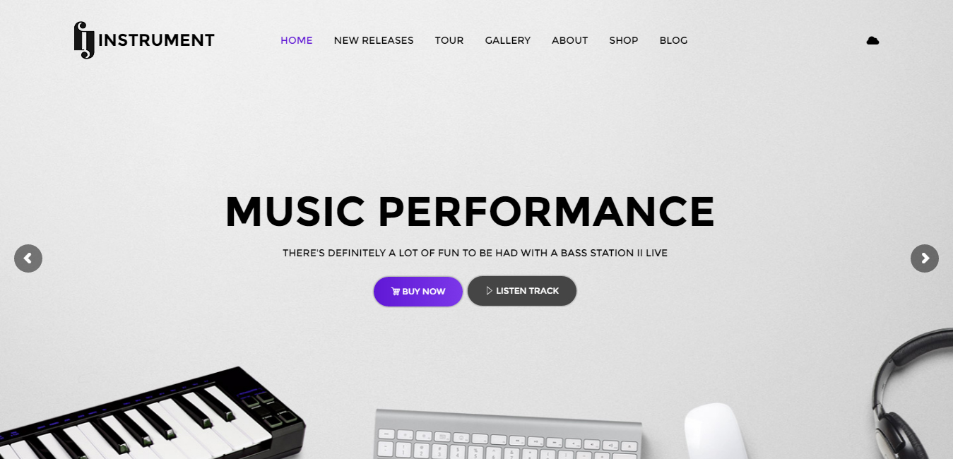 Instrument - Musicians and Bands WordPress Theme