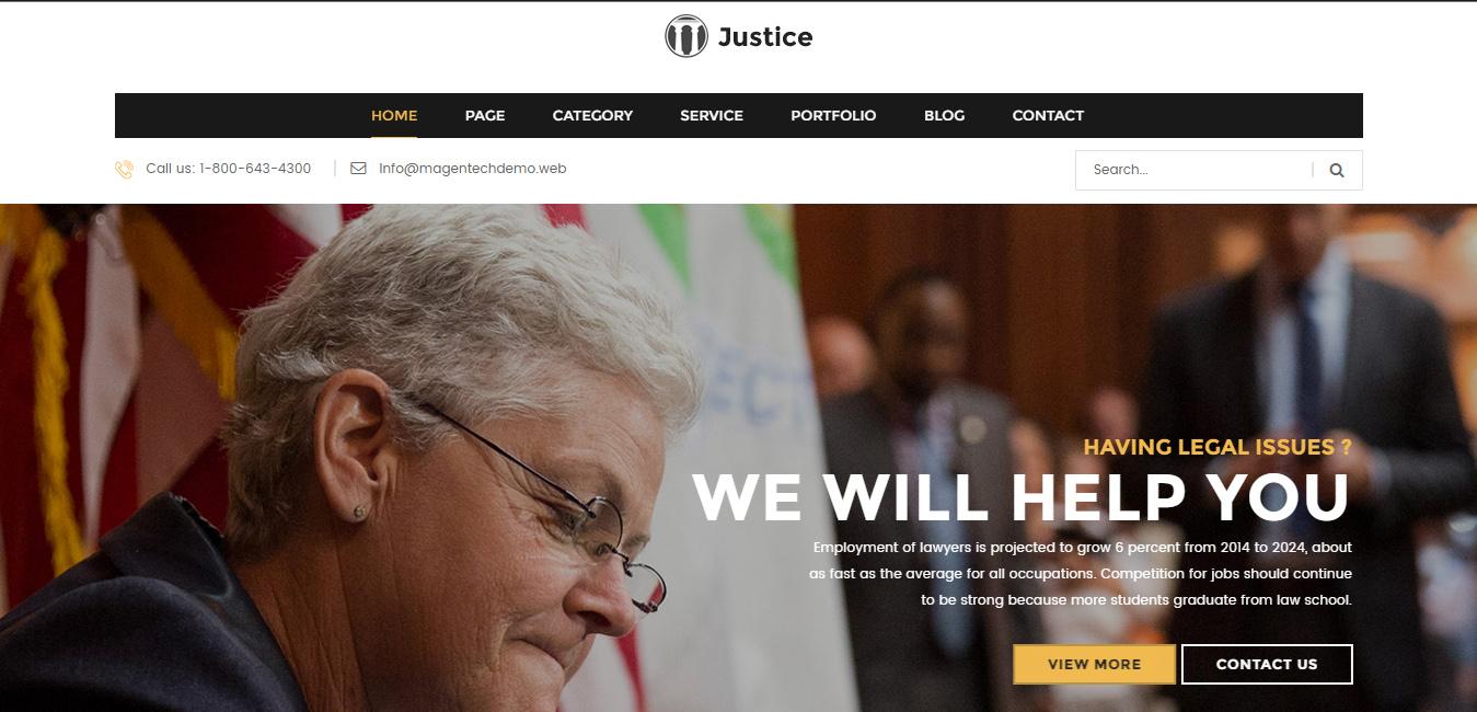 Justice - Responsive & Multipurpose WordPress Theme