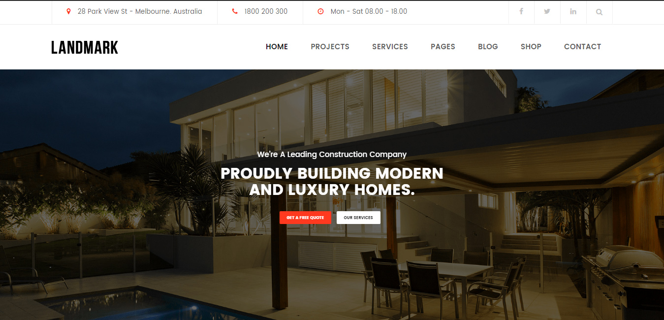 Landmark - Construction WordPress Theme