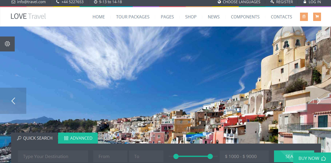 Love Travel - Travel Blog WordPress Themes