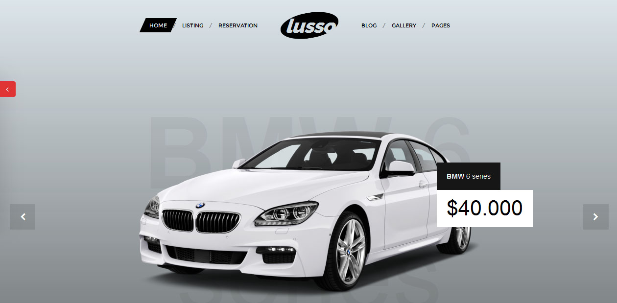 Lusso - Car and Motorcycles WordPress themes