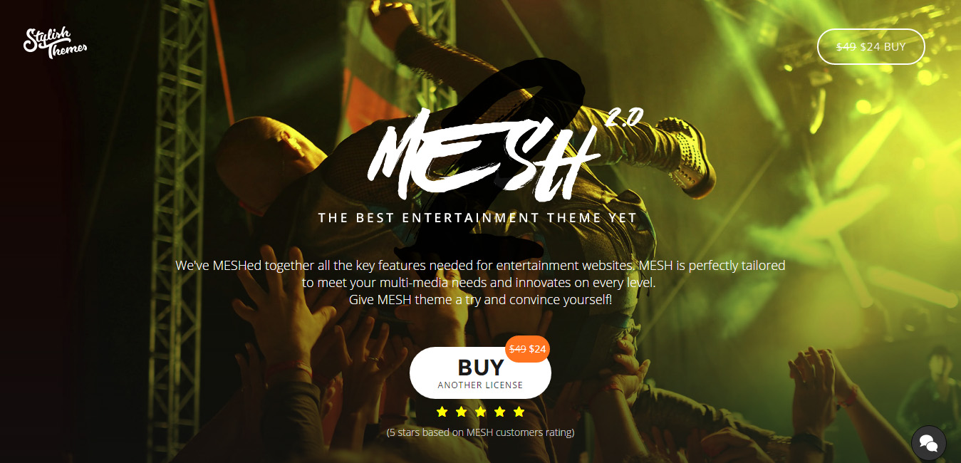 Mesh - Music, Band, Musician, Event, Club Theme