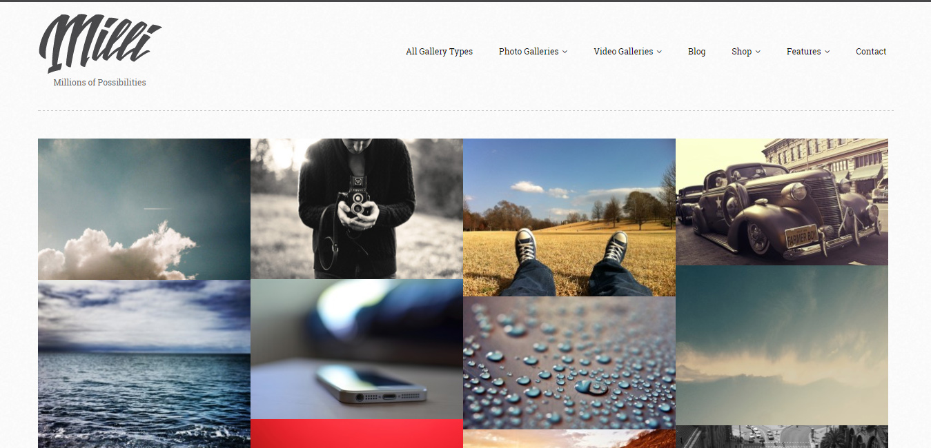 Milli - Photo Gallery WordPress Theme