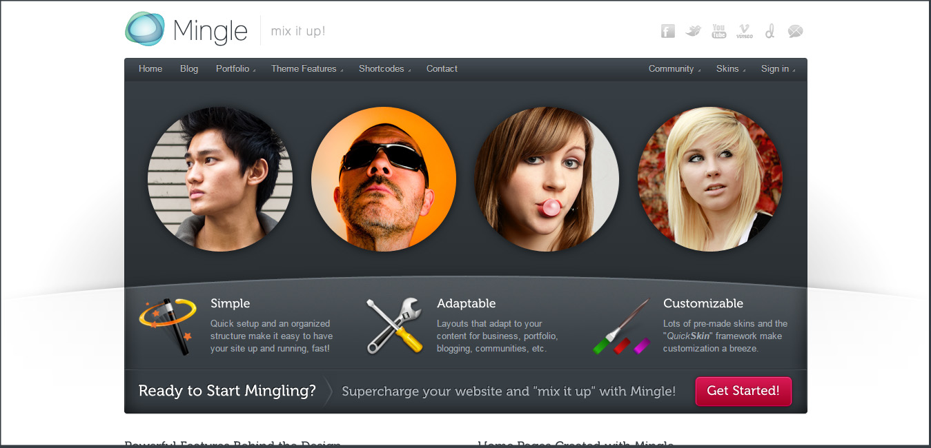 Mingle - media WordPress themes