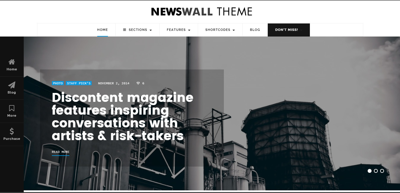 NewsWall - Fresh Magazine WordPress Theme