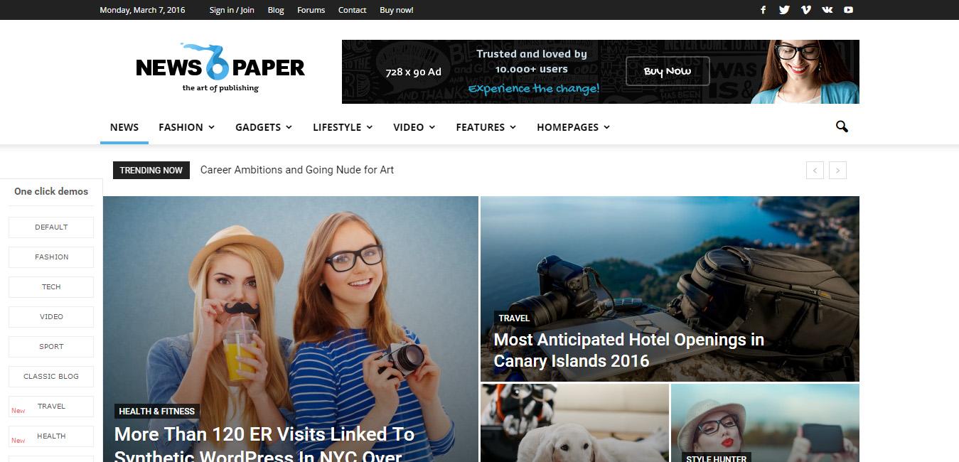 Newspaper - WordPress News Style Theme