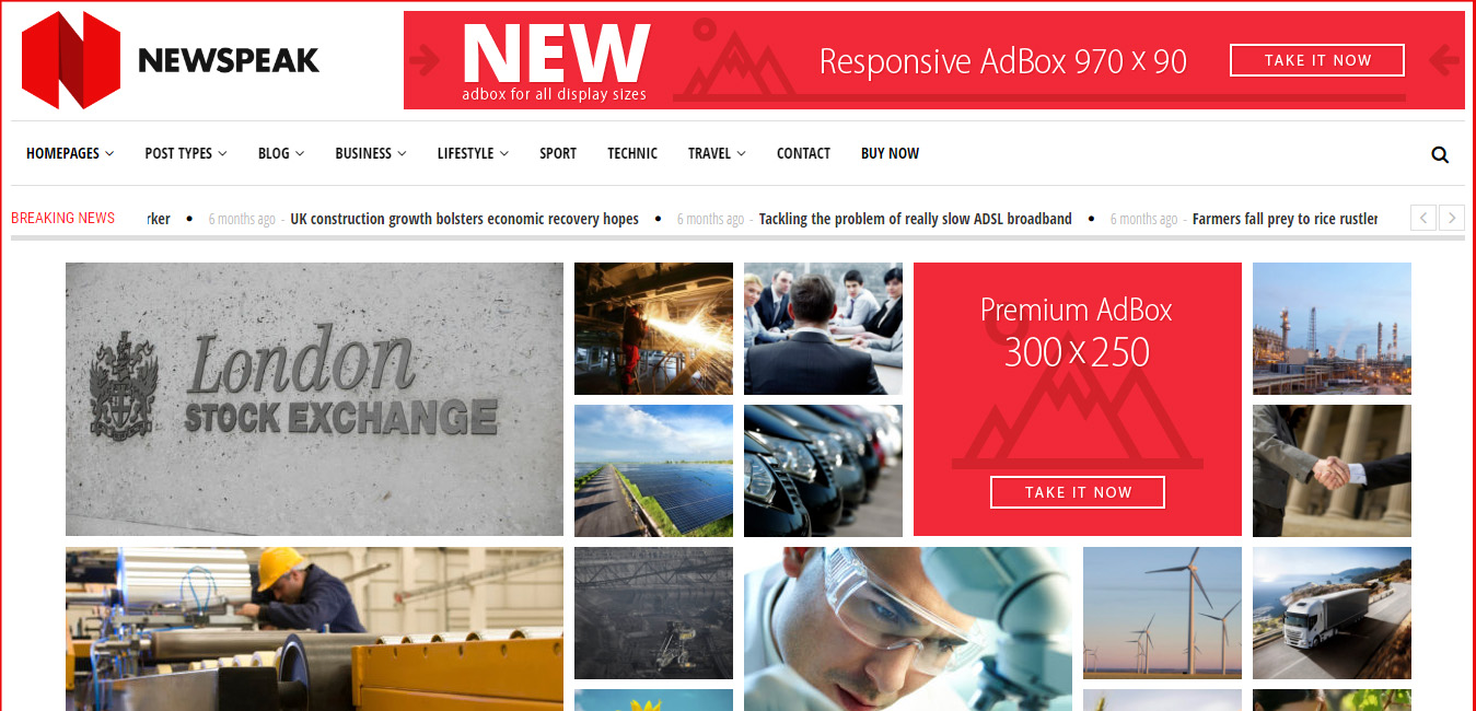 Newspeak - News and Magazine WordPress Theme