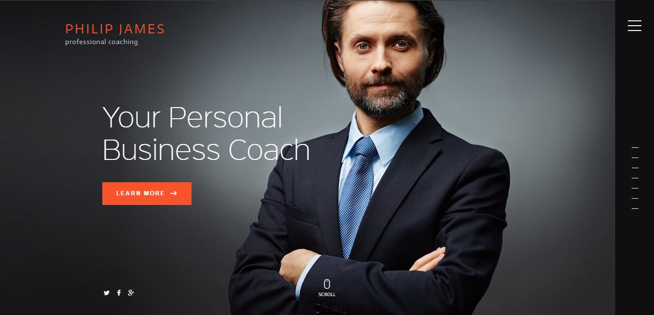 PJ - Business Coaching WordPress Theme