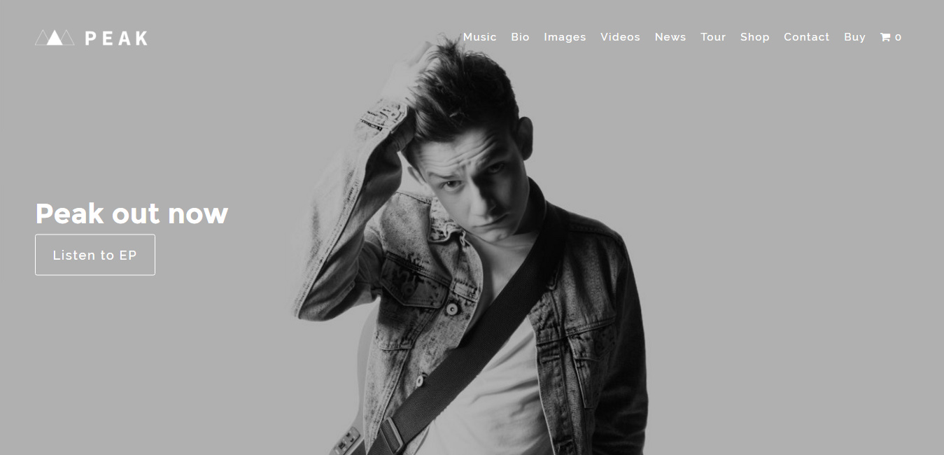Peak Musician and Band - Music WordPress Theme