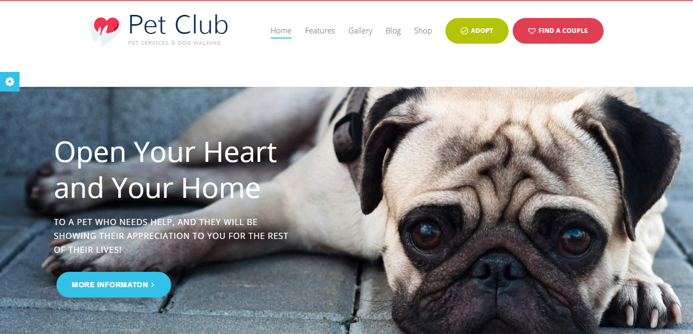 Pet Club - Services, Adoption, Dating & Community Theme