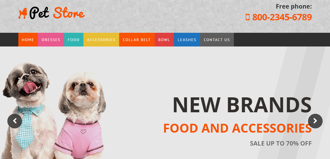 Pet Store - pet wordpress themes